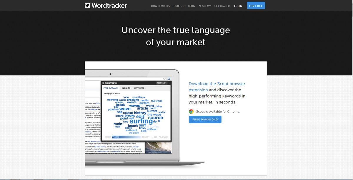 Wordtracker Scout