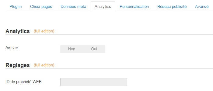 Analytics plugin wbAMP pour Joomla!